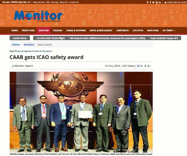 CAAB gets ICAO safety award